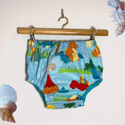 Dino Nappy Cover, baby, Bloomers, Boy Nappy Cover, Boy's Clothes, Boys, children's clothing, dino, dinosaurs, girls bloomers, handmade, Nappy Cover, Pants, toddler