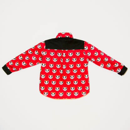red, black, Raccoon Shirt, Boy's Clothes, Boys, children's clothing, Girl's Clothes, handmade, long sleeves, pockets, Shirt, toddler, Bandit, semi-formal, snaps