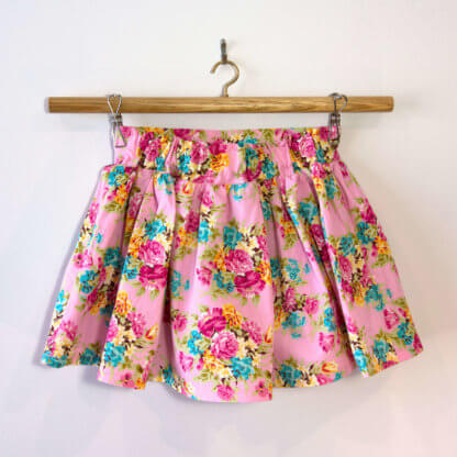 Little Miss skirt and shirt, outfit, Handmade children's clothing, kids clothes, girls clothes, toddlers, floral, skirt, shirt, handmade, girls, children's clothing