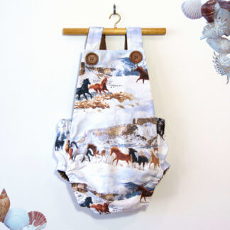 horse romper, jumpsuit, onesie, cute baby outfit, cute toddler outfit, toddler, children's clothing, Girl's Clothes, boys clothing, handmade