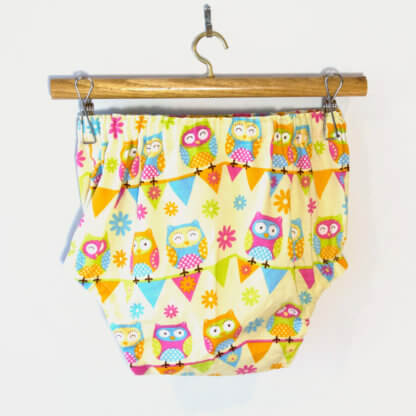 Owl Nappy Cover, baby, Bloomers, children's clothing, owls, girls bloomers, handmade, Nappy Cover, Pants, toddler, hoot
