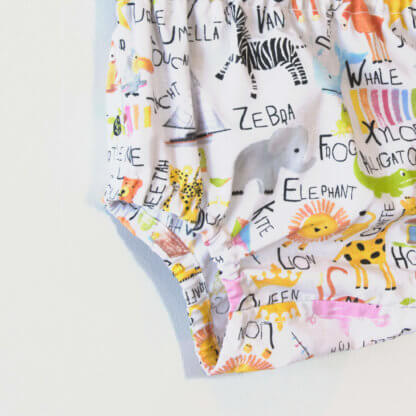 Alphabet Nappy Cover, baby, boys nappy cover, boys clothes, boys bloomers, Bloomers, children's clothing, girls bloomers, handmade, Nappy Cover, Pants, toddler, animals