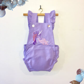 Unicorn Romper, jumpsuit, onesie, ruffles, romper, cute baby girl outfit, cute toddler outfit, toddler, children's clothing, Girl's Clothes, handmade