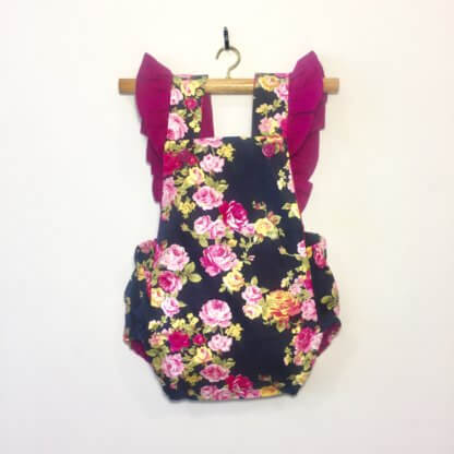 Florence Romper, jumpsuit, onesie, ruffles, romper, floral, cute baby girl outfit, cute toddler outfit, toddler, children's clothing, Girl's Clothes, handmade, shoes, baby shoes